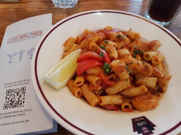 prawn and chicken pasta